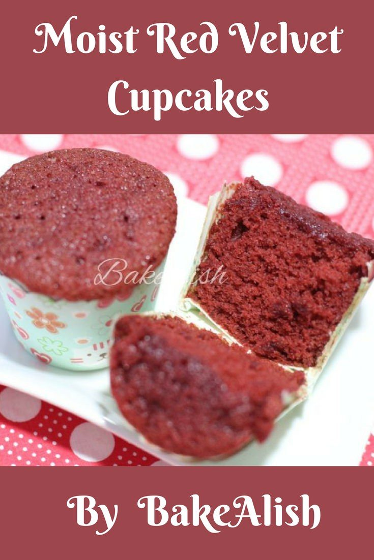 Every baker needs that one Moist Red Velvet Cupcakes recipe that we could rely on. Here's presenting my personal recipe which never fails. Super moist and amazingly delicious. This red sponge is full of simple flavors, light & fluffy. These Moist red velvet cupcakes can be combined with any frosting or even served without any frosting.
