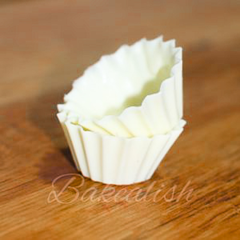 chocolate homemade cups in silicone mould -White Chocolate Cheese Mousse Cups