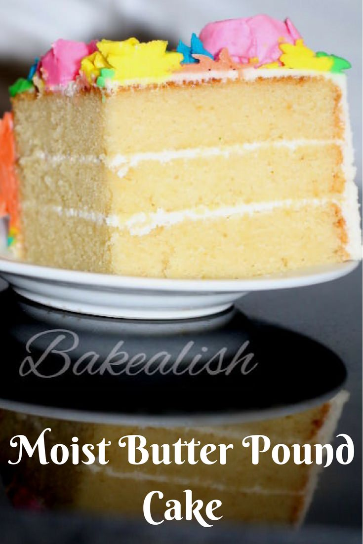 This Moist Butter Pound Cake stays true to its name. Simply buttery, rich and moist. This cake has a beautiful texture and taste. It can be served with any frosting or even served freshly baked. This is one recipe which every baker must have and every cake lover must try.