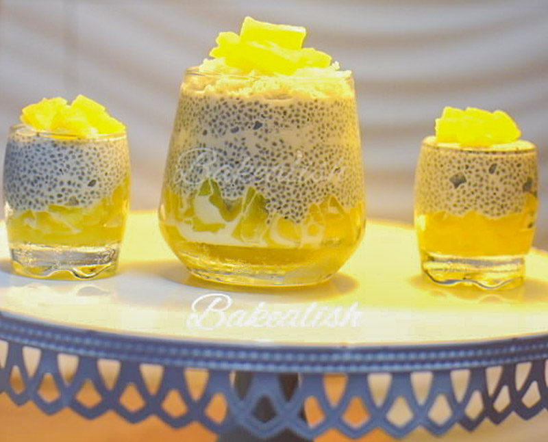 This Pina Colada Chia Seeds Pudding is a creamy Chia Seeds Pudding Recipe with pineapple and coconut, perfect as a breakfast recipe or dessert recipe