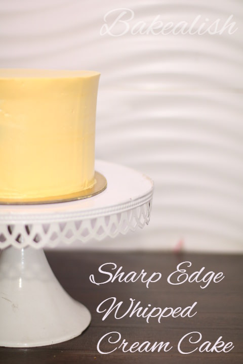 Masterclass on Whipped Cream Cakes (Sharp Edges) is a session meant for students who want to learn the true art of working with whipping cream