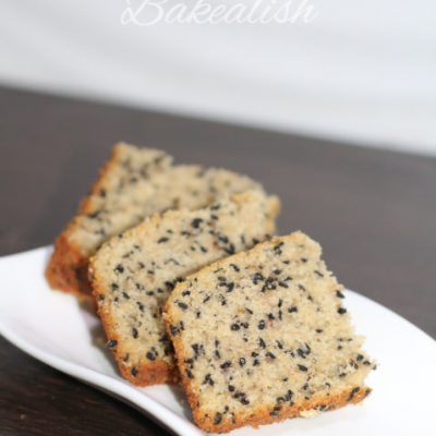 Oats Sesame Seeds Crumb Cake