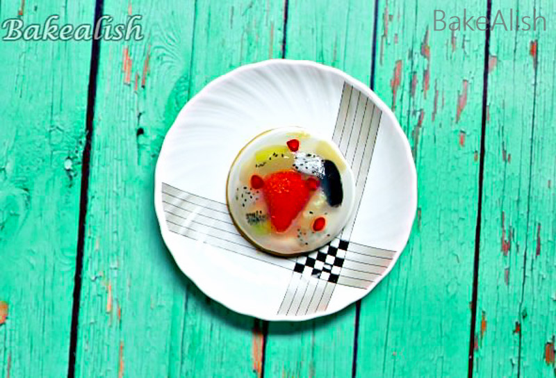 Agar-Agar Jelly dessert is an agar-agar fruit jelly cake with fresh fruit & coconut milk. Agar jelly cake recipe is not just tasty but beautiful