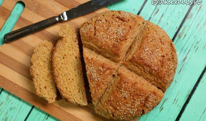 Irish Soda Bread (with a twist of honey & sesame seeds)