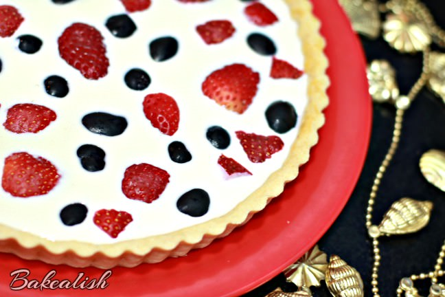 This Strawberry Grape Panna Cotta Tart is a creamy luscious dessert that most of us like. The buttery crisp tart is a great add-on when combined with fresh strawberries and grapes.