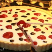 Strawberry Grape Panna Cotta Tart