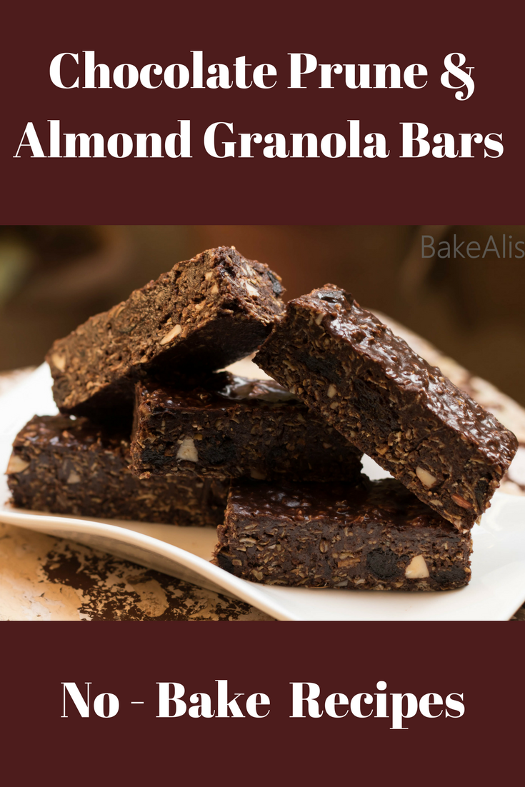 These No Bake Chocolate Prunes Almond Granola Bars are delicious and healthy. They are rich and filling, easy to make and loaded with the goodness of Oats. It's a perfect snack when you hungry and also a good snack option for kids at school.