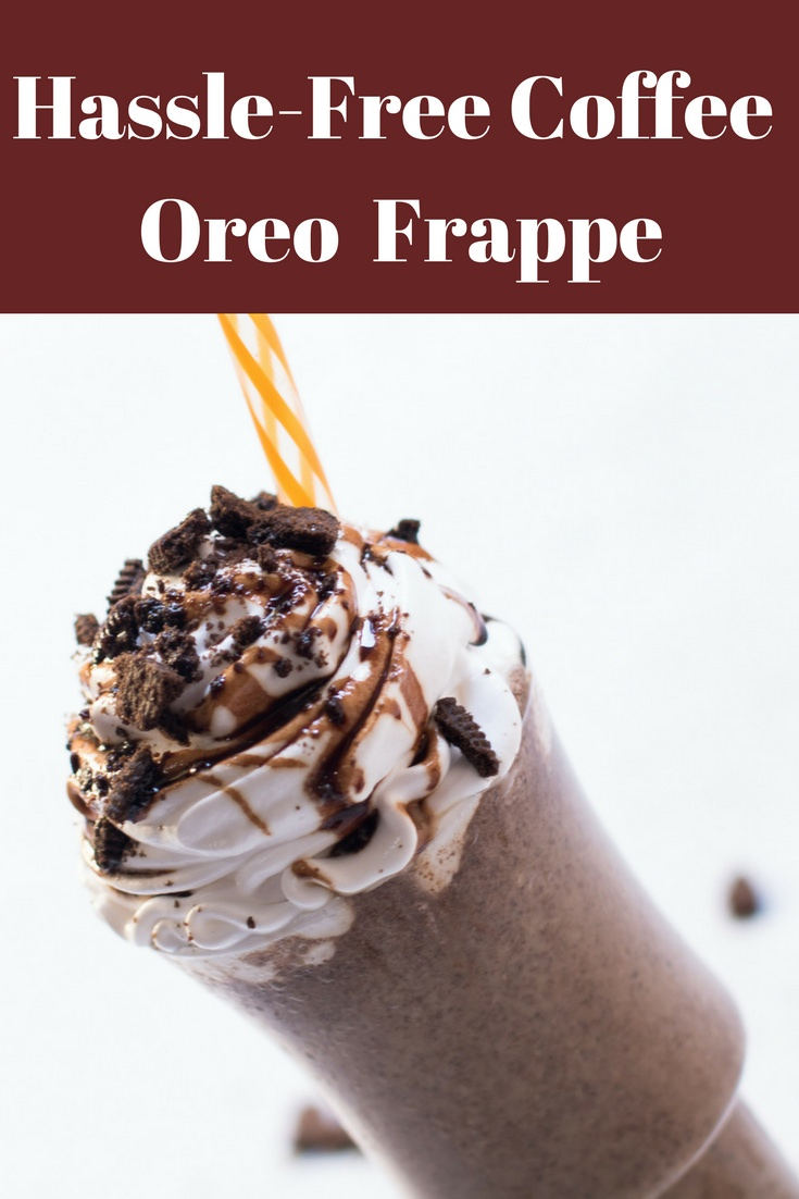 Easy to make summer drinks recipe, cookies and cream Frappuccino recipe