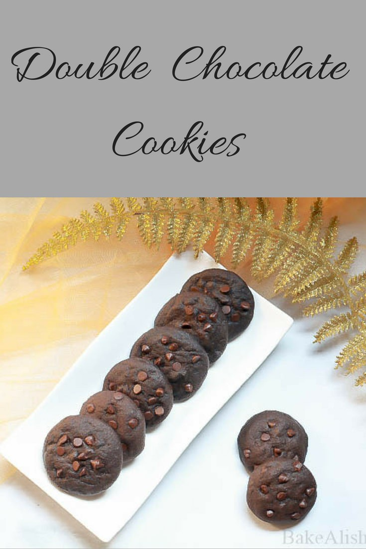 These gorgeous double chocolate cookies are easy to make and perfect for a chocolate lover. If you like biting into chocolate biscuits and are looking for something even chocolaty, you are going to love this one. It's so rich in chocolate and loaded with chocolate chips. Try out this recipe and fall in love with these cookies in every bite.