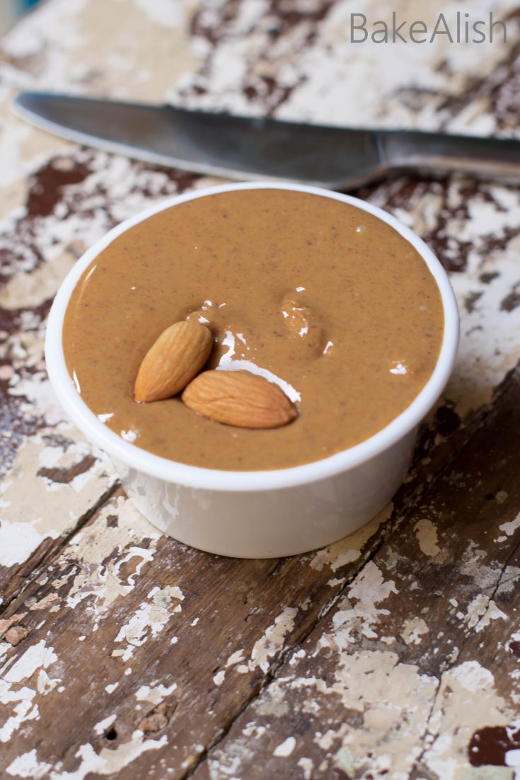 This Classic Homemade Almond Butter is creamy, yummy and delicious. It's easy to make and you may not want to buy readymade almond butter after trying this one. No fancy ingredients but just a simple method can help you make this creamy spread. To top it all it is extremely healthy and good for you.