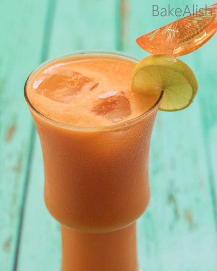 The Tropical Sunrise is a juice with a blend of Pineapple, Oranges, Carrots and more goodness. It's delicious and super healthy. Filled with the goodness of veggies & fruits this blend is yum and a perfect start to a busy day.