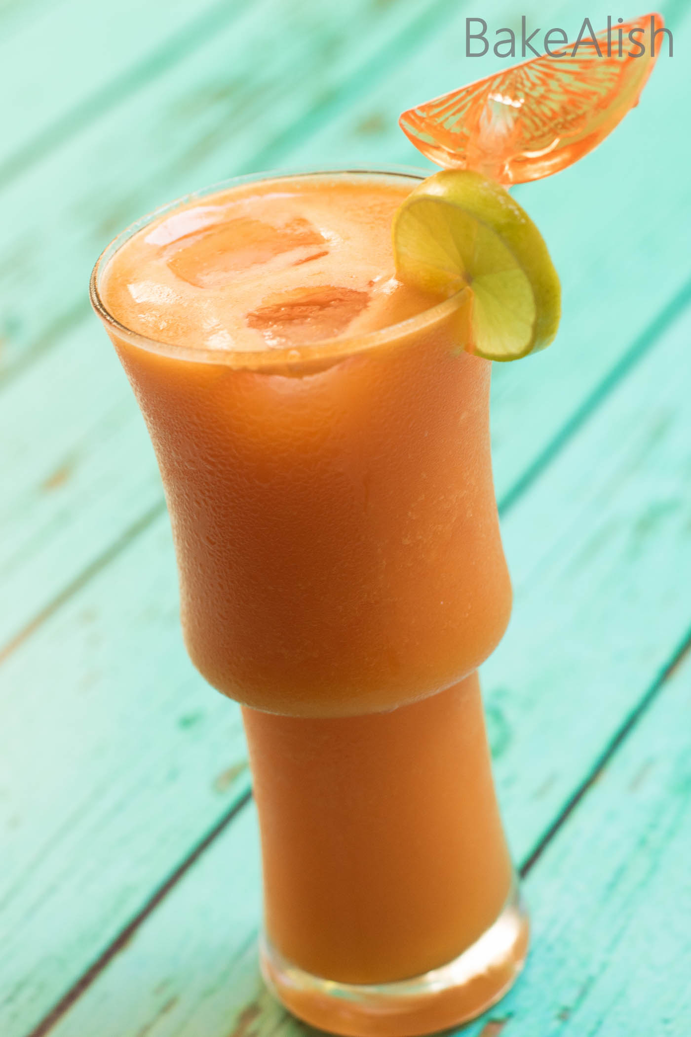The Tropical Sunrise is a juice with a blend of Pineapple, Orange, Carrot and more goodness. It's so delicious and super healthy. Filled with the goodness of veggies & fruits this blend is yum and a perfect start to a busy day.
