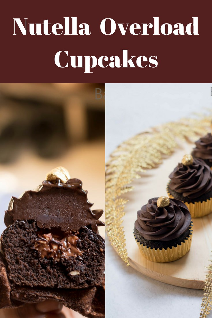 Ultimate Nutella Overload Cupcakes is moist with a creamy Nutella frosting.Learn to make nutella cupcakes or Mocha Nutella Cupcakes. Best Nutella Recipes...