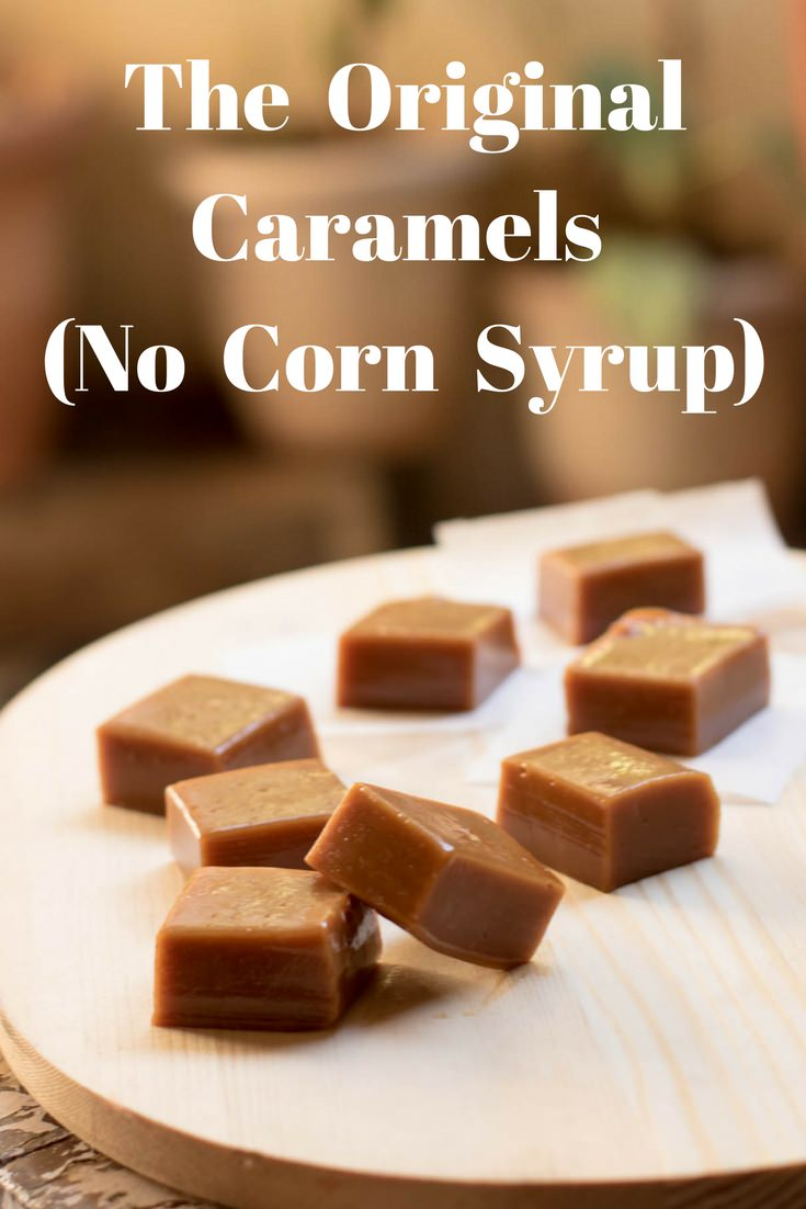 I call it The Original Caramels as they are indeed ORIGINAL. These Caramels are chewy and real. No corn syrup or golden syrup added to this one. It is dark with a toffee-like texture. These caramel bites are exactly how they are meant to be as they were discovered much before corn syrup was discovered.