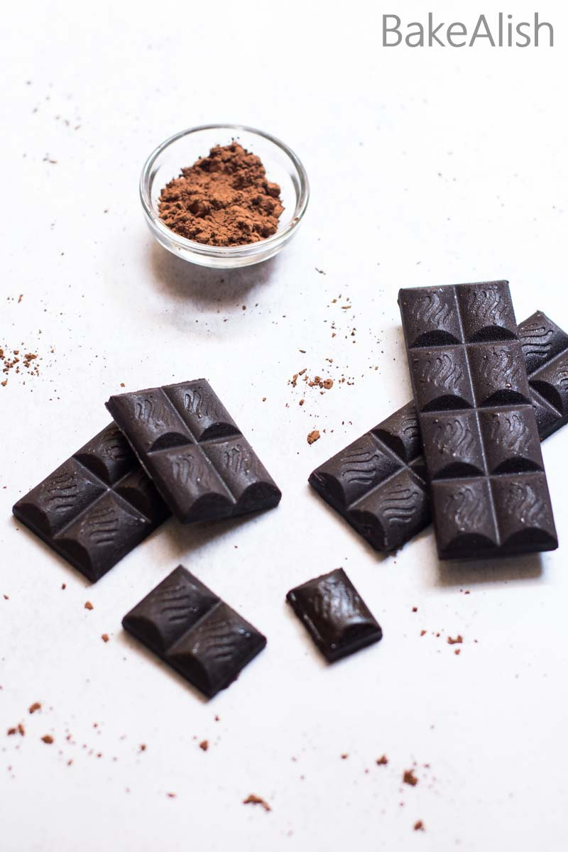 These Homemade Dark Chocolate Bars are made from cocoa powder. These easy to make bars are rich, creamy and healthy. It has a coconut flavor with the creaminess and a real chocolate feel from the cocoa butter. Perfect when you feel like biting into some chocolate and looking for healthier options