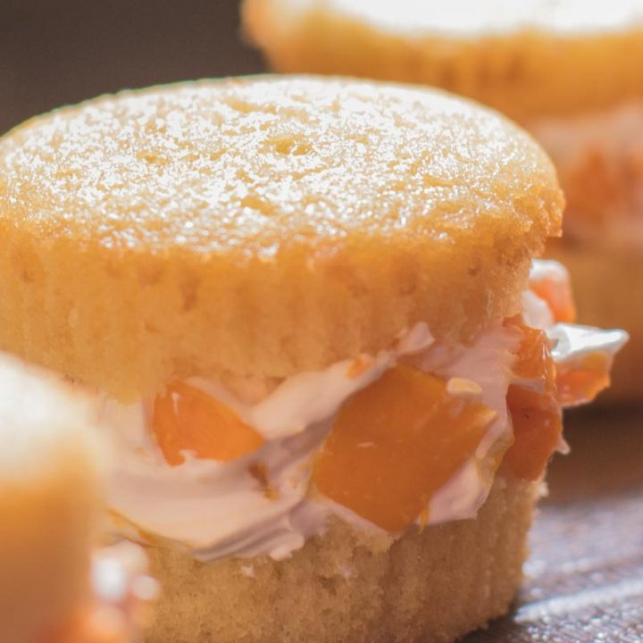 Mango Cream Cupcake Sandwiches