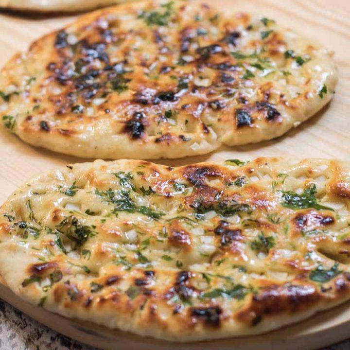 Homemade Buttery Garlic Naan