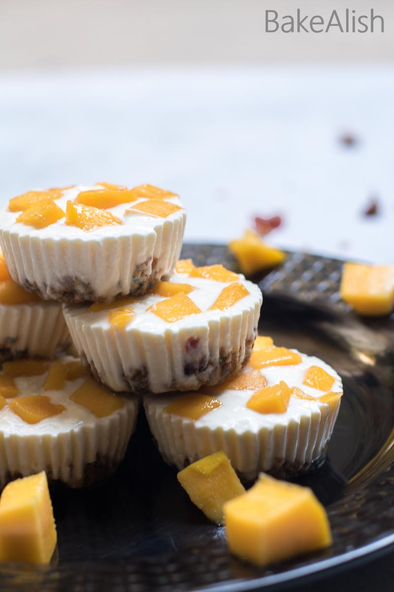 Creamy Mango Yogurt Granola Bites is a quick mango dessert recipe made with frozen yogurt. One of the best granola recipes served as dessert