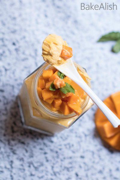 Mango Cheesecake Jars