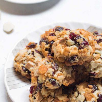 Cranberry Cornflakes Cookies