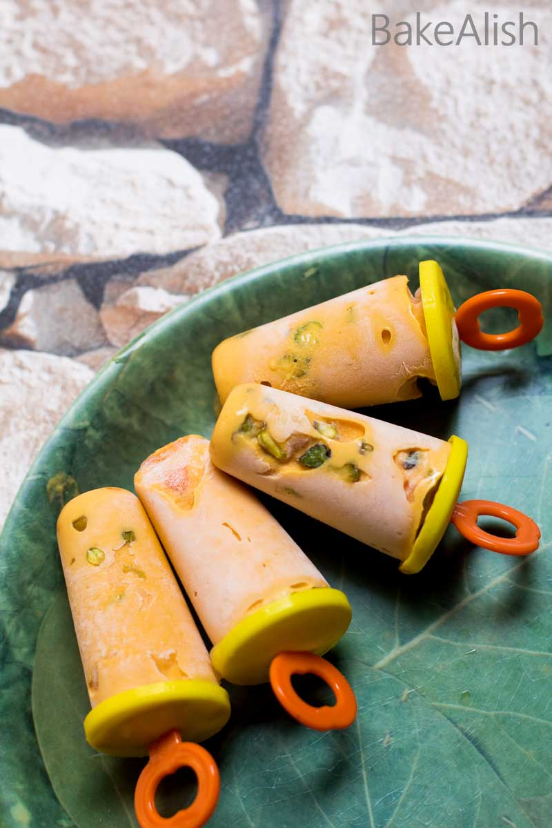 Get lost in the world of mango desserts with this Creamy Mango Kulfi recipe. It is rich and delicious with nuts in every bite.