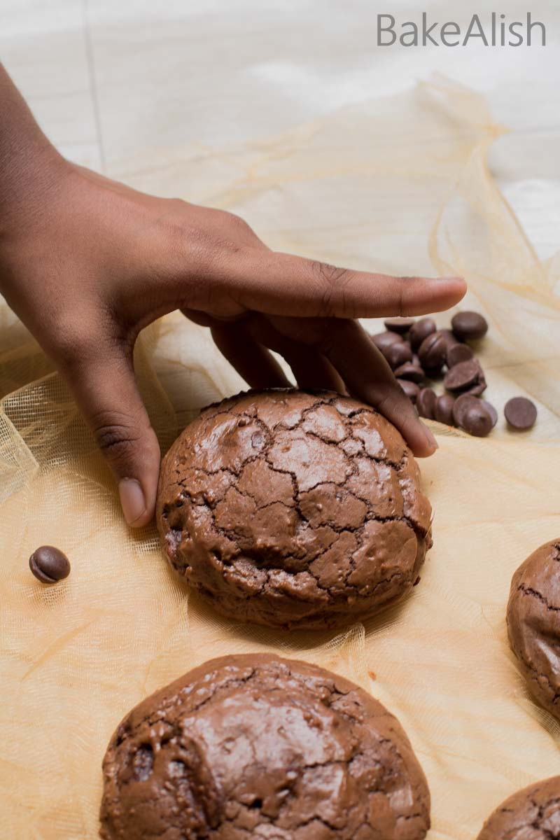 The Chocolate Brownie Cookie recipe also known as Brookies is a chocolate lovers dream come true. This Brownie is crusty outside with a rich texture inside
