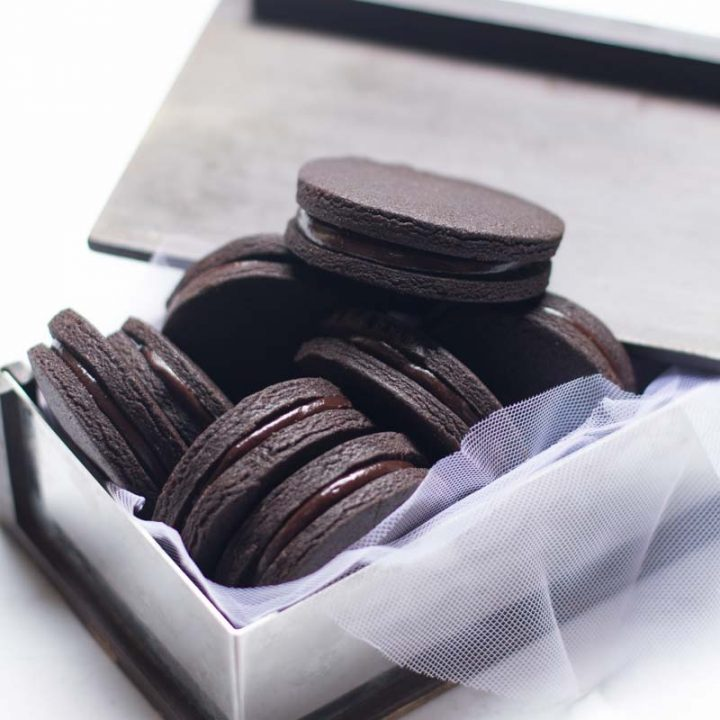 Chocolate Coffee Cookie Sandwiches