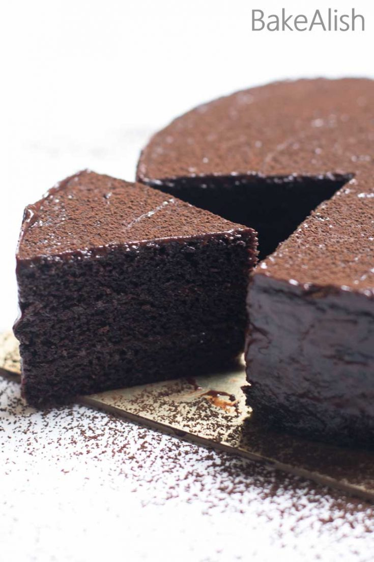 Eggless Chocolate Sponge Cake No Butter One Bowl Easy