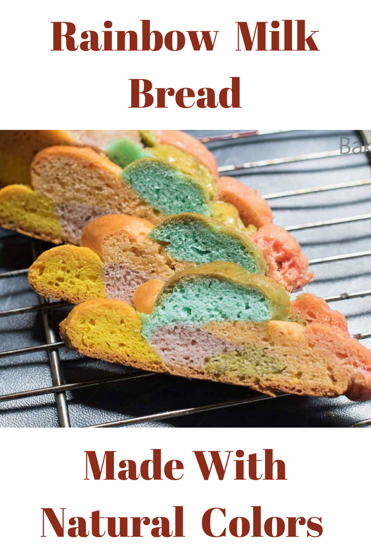 This Rainbow Milk Bread - With Natural Colors is fluffy, light and good for you, the colors are made using vegetable purees and not edible food coloring