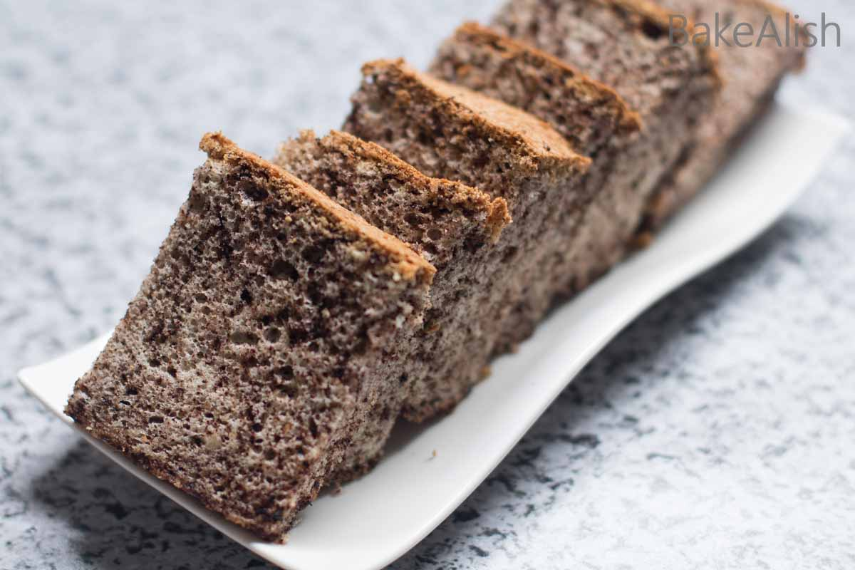 Chocolate Chip Cotton Cake is fluffy and light made with crushed chocolate chips. Freshly ground chips add to the tastes and a beautiful look to the cake.