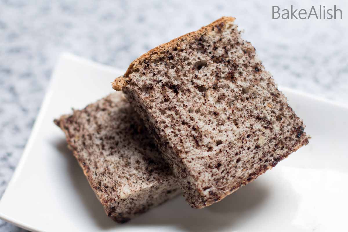 Chocolate Chip Cotton Cake is a fluffy and light Japanese cotton cake recipe made with crushed chocolate chips. A chiffon cake recipe with a grainy texture