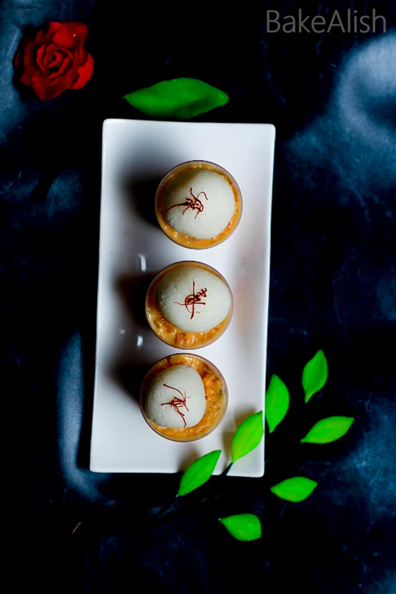 These Rabri Dessert Shots are perfect for the festive season. Topped with various Indian desserts in one glass these shots don't just look great but taste even better. From Rasgullas to mawa cake, it has it all !!