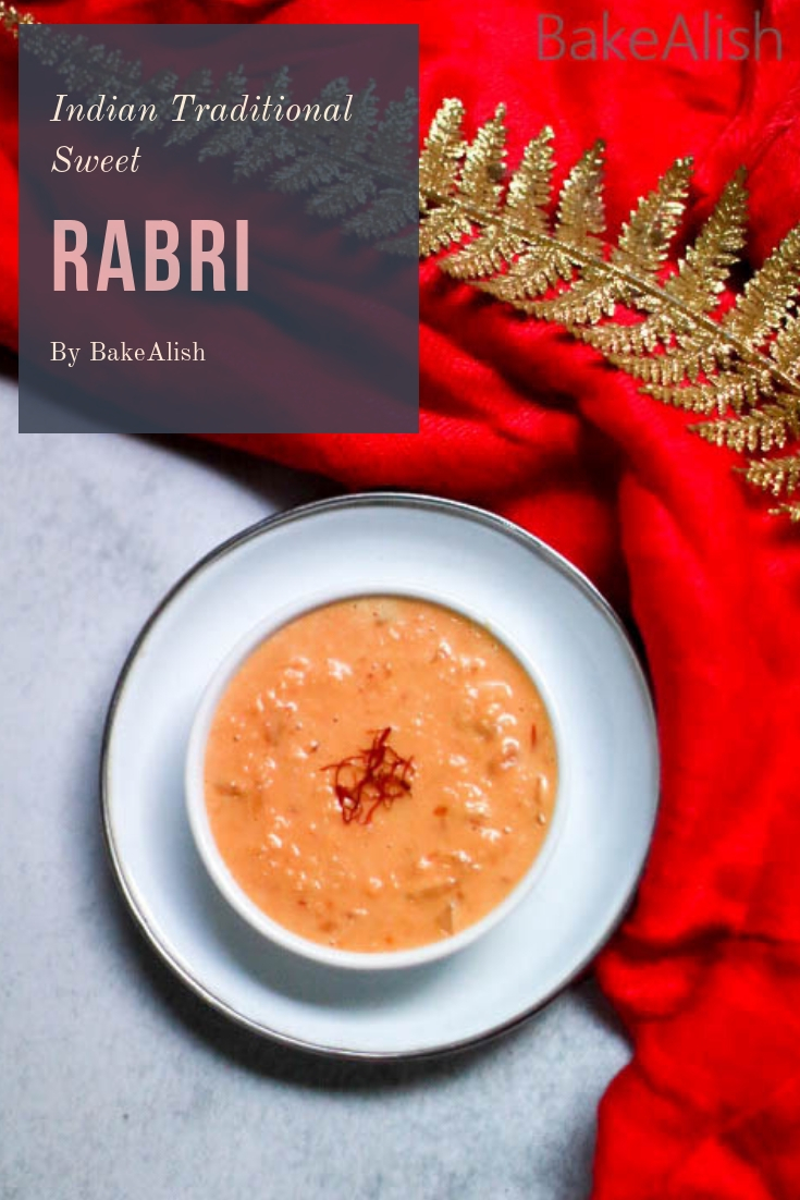 Rabri or rabdi is a traditional Indian dessert which is popular all over the world. It is rich, creamy and super delicious. It is popularly served with Jalebi