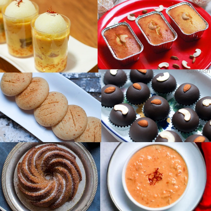 These 6 Diwali Special Recipes do not consist of regular sweets like karanji's and chewda but have a modern take on desserts, cakes and mithai's.