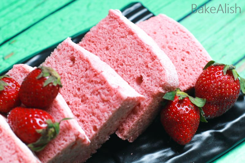 Strawberry Chiffon Cake Sponge is a perfect birthday cake if you looking for the best chiffon cake recipe. Chiffon cake mixing method with the recipe video