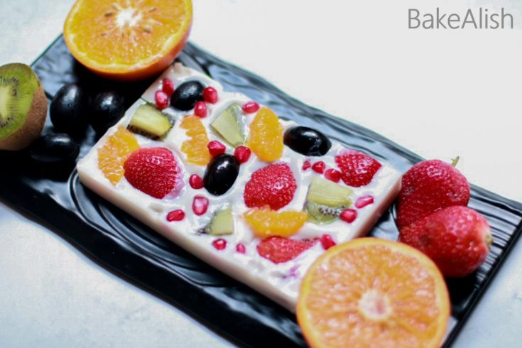 This Agar-Agar Fruit Jelly Cake is a popular Asian dessert recipe made with agar-agar powder. This Jelly Fruit Cake contains fresh fruits with a coconut cream base giving it a tropical jelly feel.