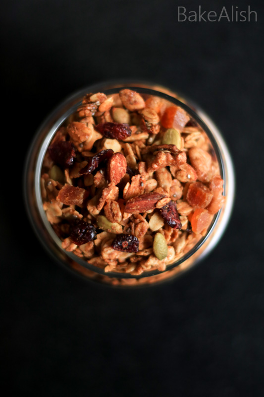 Easy Homemade Healthy Granola Recipe is loaded with Oats, Seeds, dry fruits, almond butter & other healthy ingredients. Best breakfast recipe to lose weight