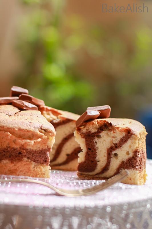 Zebra Cake is a Vanilla & Chocolate Marble Cake Recipe. Chocolate Marble Cake, chiffon cake is easy. The best chocolate and vanilla marble cake recipes