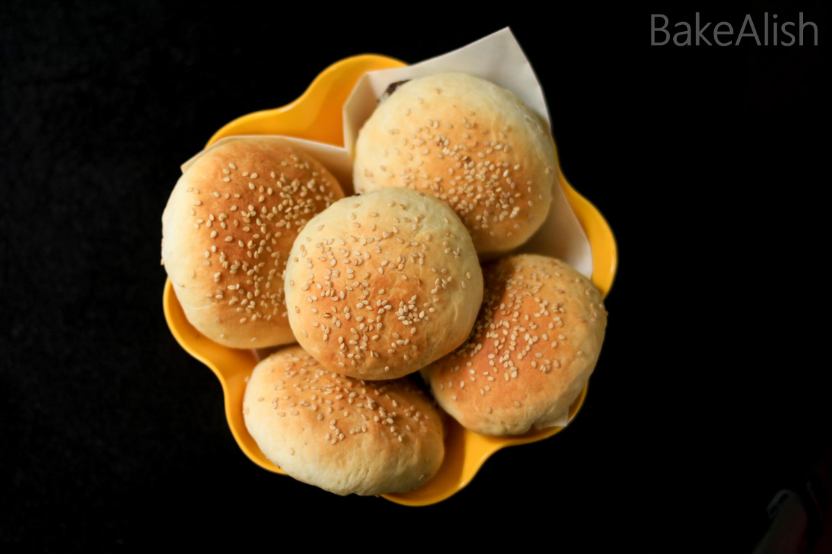 Bread baked until golden brown