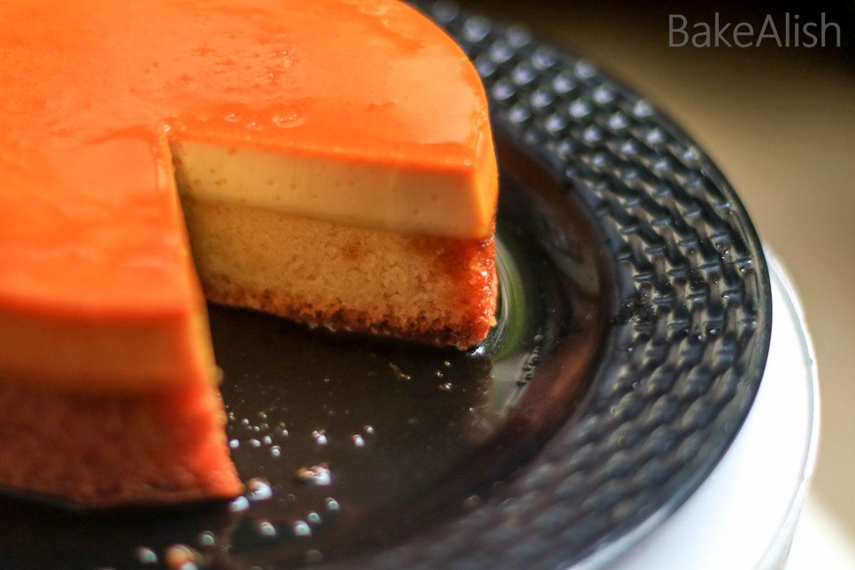 Caramel Custard Cake Recipe