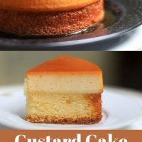 Easy dessert recipes made with custard and cake