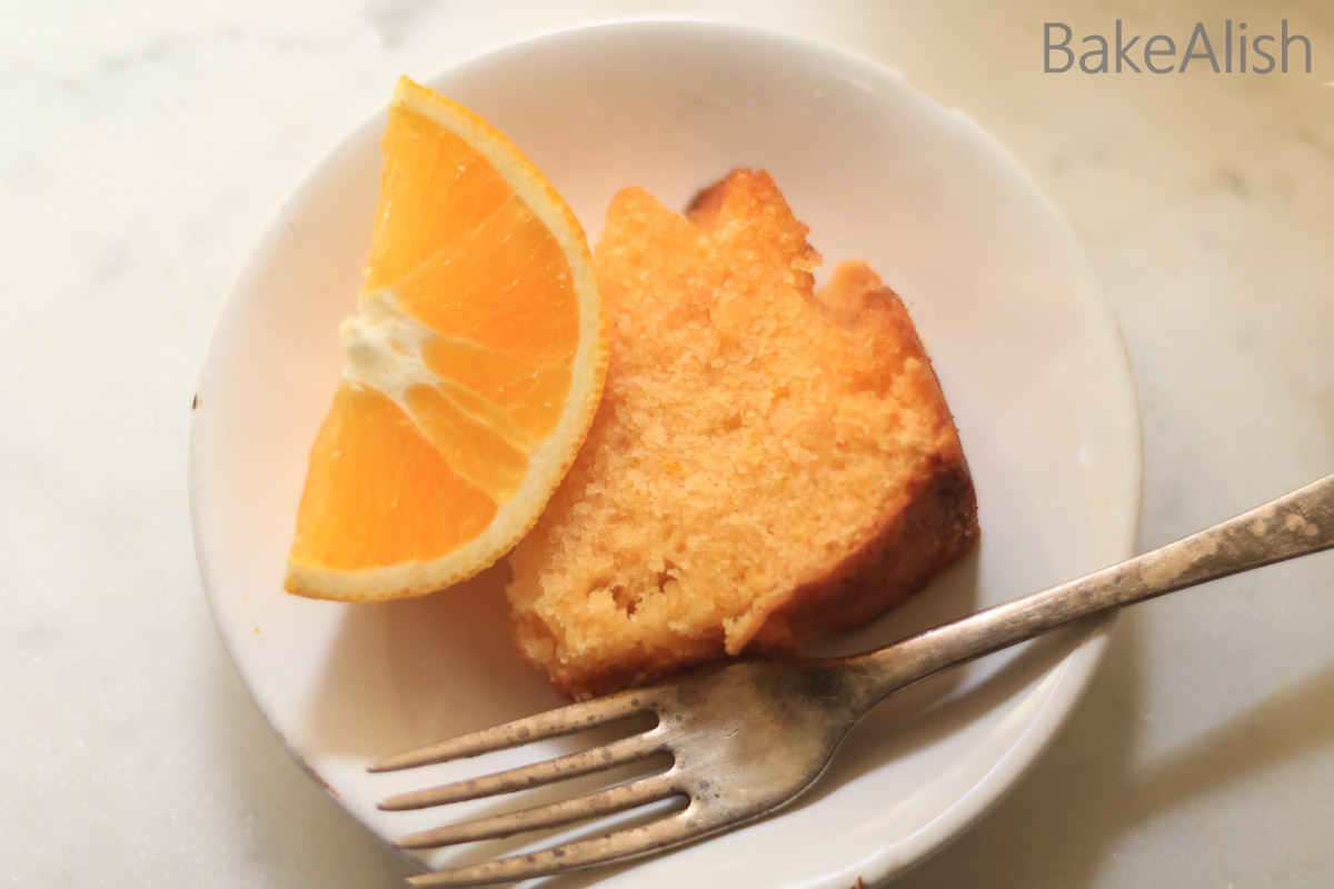 Orange cake recipe made with buttermilk and orange zest