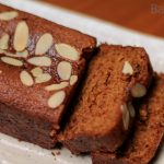 Cake made with whole wheat flour and jaggery