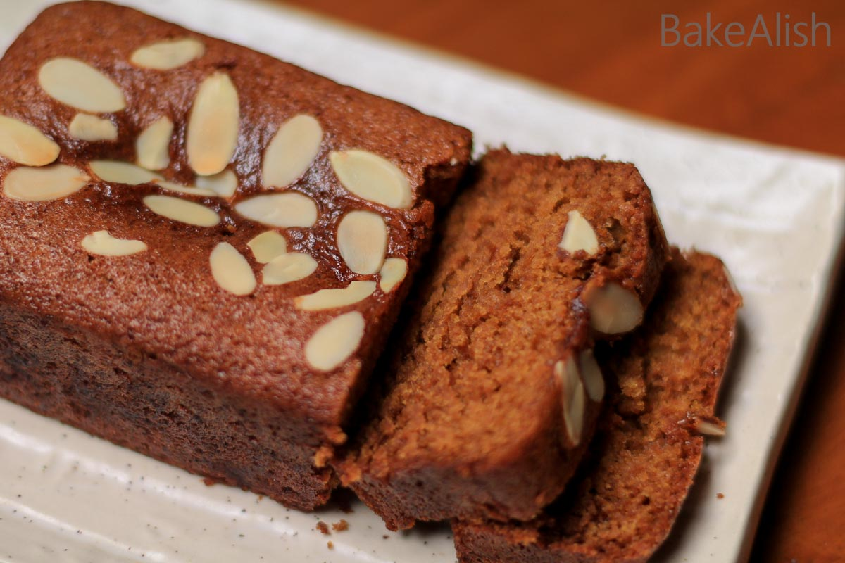 This Eggless Wheat Cake is made with jaggery and no refined sugars. It is a healthy wholemeal cake recipe which is also known as atta cake or jaggery cake.