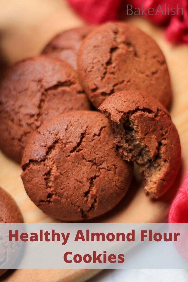 These Healthy Almond Flour Cookies are eggless and make a perfect Healthy Vegan Breakfast Cookie Recipe. These No flour cookies contain natural sugar, ginger & cinnamon. They have a chewy grainy texture on the inside and a crisp texture on the outside