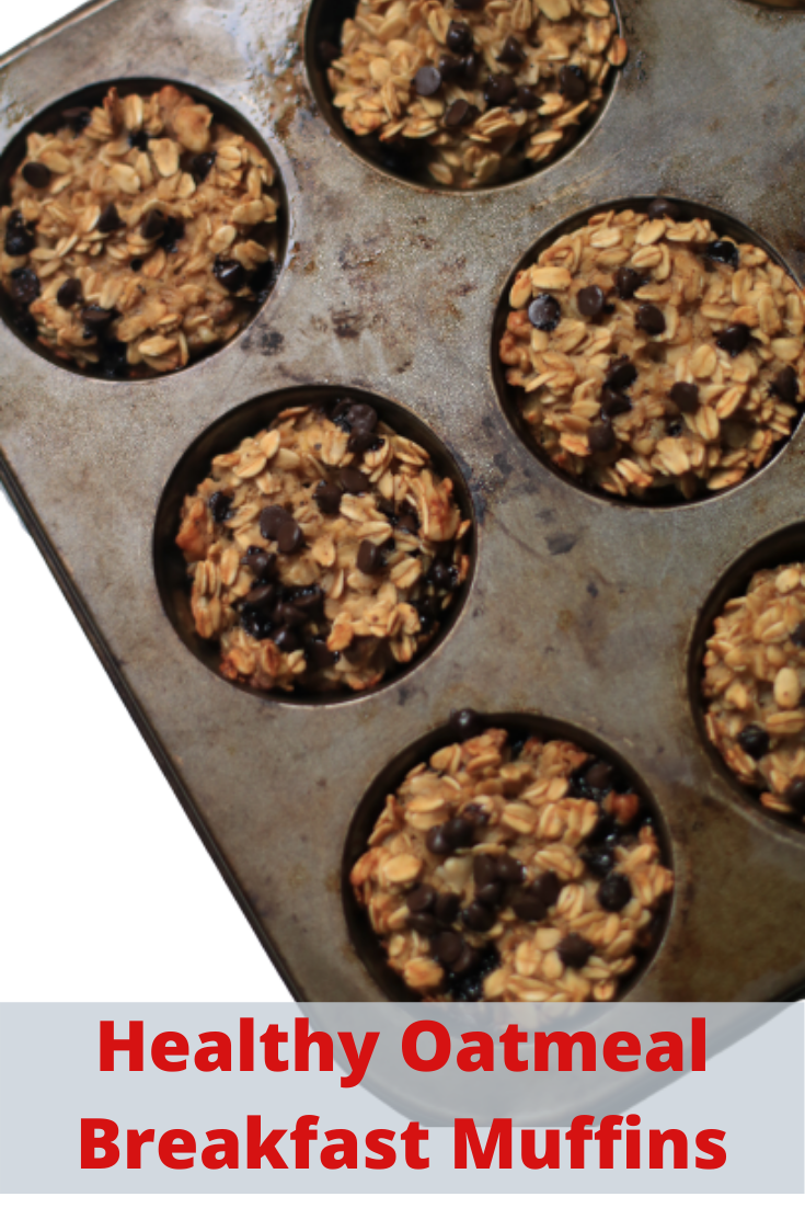 These Healthy Banana Oatmeal Muffins are a perfect go-to snack and make the best breakfast recipe for a busy morning