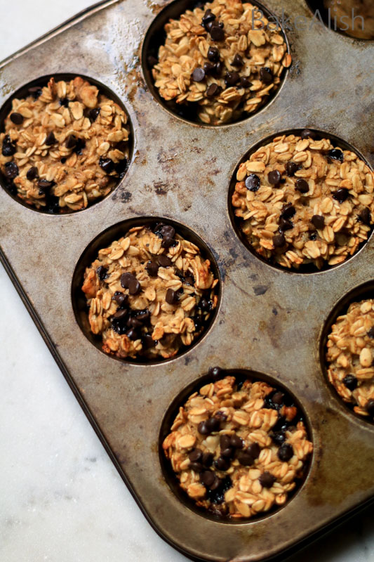 These Healthy Banana Oatmeal Muffins are a perfect go-to snack and make the best breakfast recipe for a busy morning. If you're looking for a healthy muffin recipe, this is it !!