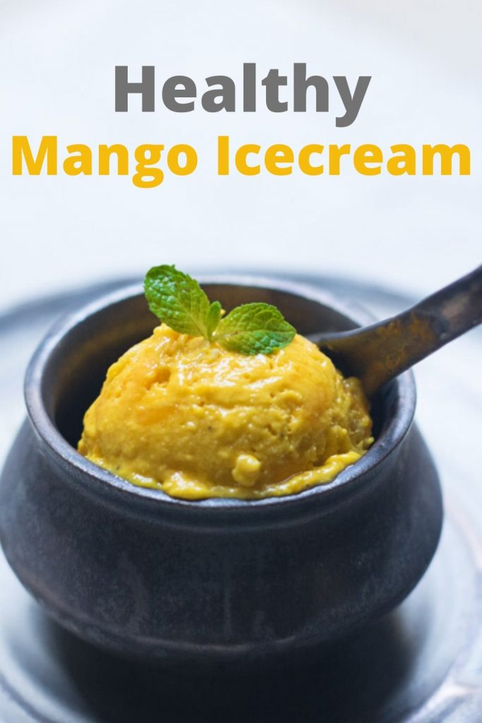 Mango ice cream recipe made with real mangoes