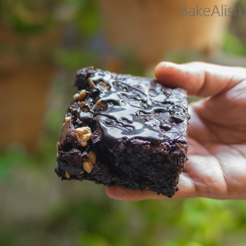 Learn how to make gooey brownies with walnuts