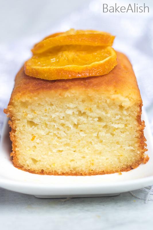 orange butter sponge with orange glaze